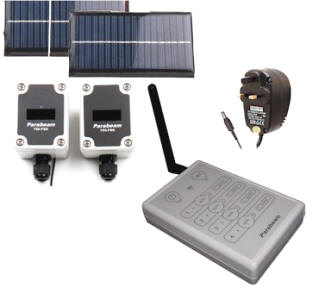 Parabeam 700-fsk Driveway / Perimeter Alarm System. Ideal for farms, rural residences, compound security, visitor alert.